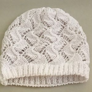 Crocheted baby Cap, white 0-3 months